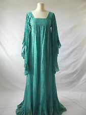 VINTAGE Dress Indian Gauze Cotton Hippy Boho Festival Maxi Kaftan VARON/PHOOL 6