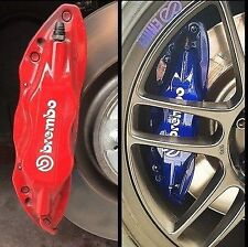 BREMBO LOGO Brake Caliper High Temp. Vinyl Decal Stickers Set Of 6 (Any Color)
