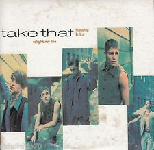 TAKE THAT [Feat LULU] Relight My Fire CD Single / Card Sleeve