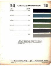 1941 CHRYSLER IMPERIAL NEW YORKER SARATOGA 41 PAINT CHIPS 6PC SHERWIN WILLIAMS 2