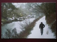 POSTCARD WILTSHIRE DEVIZES WINTER TIME ON THE KENNET & AVON CANAL