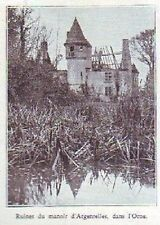 1933  -- RUINES DU MANOIR D ARGENTELLES   ORNE  K501