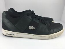 LACOSTE Thrill Skin Men US 13 Black Low Shoes