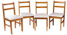 Merax 4pcs Set Wood Dining Chair Contemporary Padded Dinning Room Chair Kitchen