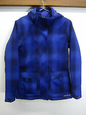 vtg Merrell Ski Jacket Coat Snowboarding Royal Blue Plaid opti-shell sz M EUC!