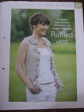 Ruffled Vest Pattern The Art of Crochet Magazine