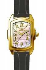 Invicta Lupah Mother of Pearl Dial Black Leather Ladies Watch 20457