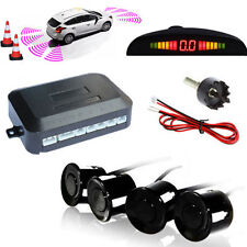 Wireless Car Parking trasero reverso con 4 Sensores zumbador Radar Pantalla Led Alarma Audio