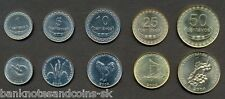 EAST TIMOR COMPLETE FULL COIN SET 1+5+10+25+50 Centavos 2003-2006 UNC LOT of 5