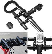 Bike handlebar carbon extender handle bar mount stand holder phone GPS lights