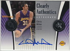 2006-07 E-X CLEARLY AUTO: CHRIS MIHM #CAA-MM AUTOGRAPH TEXAS ALL-AMERICAN/LAKERS