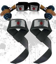 Authentic Senshi Japan Padded Weight Lifting Straps Pair Gym Straps Power Straps