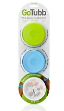 Humangear GoTubb 3-Pack Clear/Green/Blue Medium (2 Oz) NEW