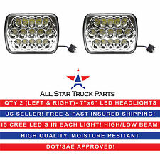 "Pair Kenworth T300 1997-2010 7x6"" inch 15 LED Headlights High/Low Beam"