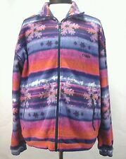 Colmar Vtg Men's multicolor Zip Winter Fleece Jacket Coat Sz Us 40 Eu 50 Rare!