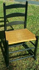 Handmade Rushed Rocking Chair Pennsylvania Style ladder back Small