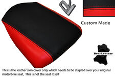 BLACK & RED CUSTOM FITS HYOSUNG GT 650 R 06-10 REAR LEATHER SEAT COVER