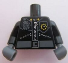 LEGO - Minifig, Torso Police 3 Zippers, Minifig Head Badge, Radio & Belt Pattern