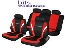 Fiat Stilo SPORTS Fabric Car Seat Covers Full Set in BLACK & RED