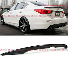 FITS FOR 2014-2016 INFINITI Q50 Q50S OE STYLE CARBON FIBER TRUNK SPOILER WING