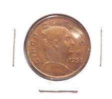 CIRCULATED 1959M 5 CENTAVOS MEXICAN COIN! (123015)
