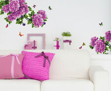 Wall Stickers Flowers Purple Antique Peony Sofa Backdrop Living Room Art