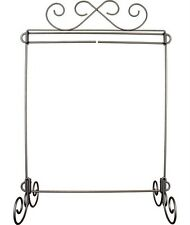 """Ackfeld 12"""" Scroll Table Stand Metal Craft Quilt Textile Holder Hanger Display"""