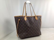 Auth LOUIS VUITTON Monogram Neverfull MM Shoulder Tote Bag Brown 7C100040