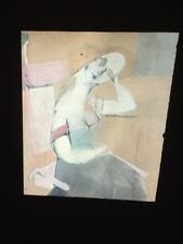 """William De Kooning """"Woman Sitting"""" Dutch Abstract Expressionist 35mm Slide"""