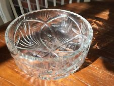 Vintage heavy glass crystal bowl very pretty