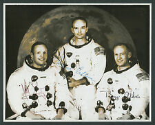 Apollo 11 Signed Photograph with Mission Patch & Commemorative Postcard