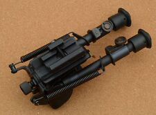 "Friction Lock Sniper Bipod S-type for Free Float Quad Rail w/ Rail Adapter 6-9"""