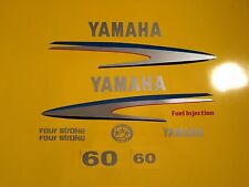 Yamaha 40 / 50 / 60 hp Outboard Decal Sticker Kit Marine vinyl four stroke