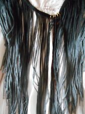 VANESSA MOONEY EXTRA LONG OMBRE FRINGE NECKLACE W/GOLD BITS SIGNED FREE PEOPLE