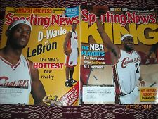 SPORTING NEWS(2 MAGAZINE LOT)LEBRON JAMES COVERS[MARCH 2006 & JUNE 2007]NBA