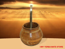 YERBA MATE KIT - Artisan Glass Vessel with Traditional Bombilla - Free Shipping