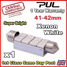 1 x Festoon 42mm C10W SV8, 8 SMD LED NUMBER PLATE / INTERIOR LIGHT - PURE White