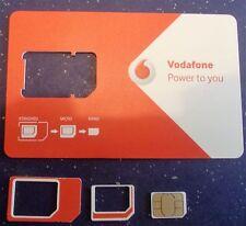 VODAFONE UK pagamento a servizio PAYG-Include standard, Micro & Nano Triple SIM