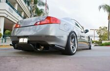 Rear Bumper Diffuser Kit For 03-08 Z33 350z Infiniti G35 Coupe 2Dr JDM TS FRP