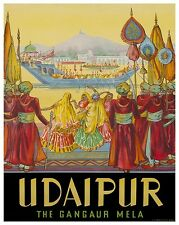 "India Art Travel Poster Udaipur Vintage Decor Print 12x16"" XR426"