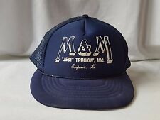 M&M Jest Truckin', INC Emphoria, KS Vintage Foam Mesh Blue Trucker Hat Snapback