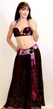 Professional Bellydance Belly Dance Bellydancing Purple Lexi Costume
