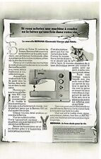 Publicité Advertising 1979 La machine à coudre Bernina Electronic