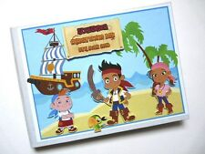JAKE AND NEVERLAND PIRATES BOY/GIRL /FIRST/1ST BIRTHDAY GUEST BOOK ANY DESIGN