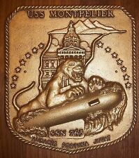 USS Montpelier SSN-765 Nuclear Submarine Original US Navy Ship Plaque
