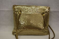ANOTHER Y & S ORIGINAL Gold Metal Mesh Purse, Gold Braided Handles RETRO