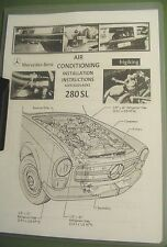 Mercedes 250SL AIR CONDITIONING  INSTALL - SPARE PARTS - SERVICE MANUAL W113.043