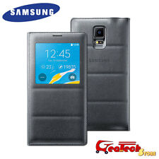 S VIEW Cover ORIGINALE Per SAMSUNG Galaxy Note 4 N910F Custodia Finestra Nera
