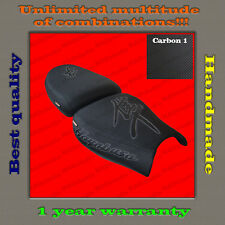 CUSTOM Design Seat Cover Suzuki Hayabusa 99-07 black-CARBON+black 001