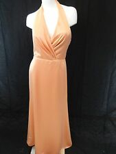 NWT DESSY COLLECTION WOMENS PEACH ORANGE BRIDESMAID GOWN DRESS SIZE 10
